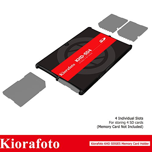 Kiorafoto KHD-SD4 Slim Credit Card Size Durable Lightweight Portable SD Memory Card Case Storage Holder Protector for 4 SD Cards