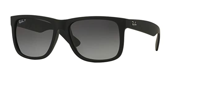 Ray-Ban RB4165 Justin Polarized Sunglasses Matte Black w/Grey Gradient (622/
