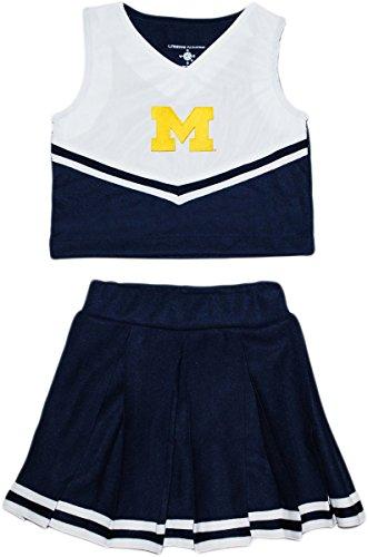Dress 2 Piece Cheerleader (Creative Knitwear University of Michigan Block M 2 Piece Cheerleader Dress)