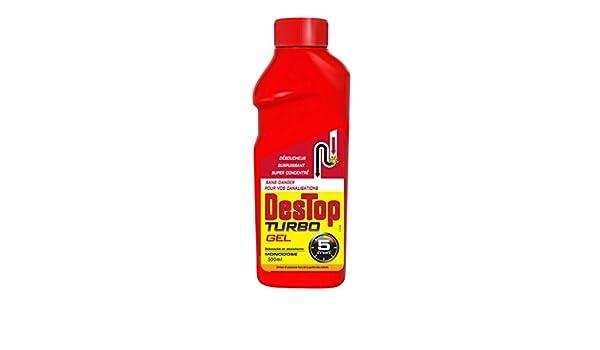 DESTOP Turbo déboucheur Gel javel - 500 ml: Amazon.es: Salud y cuidado personal