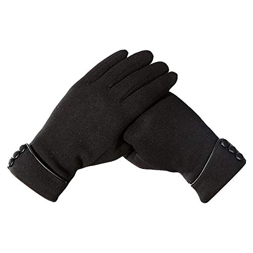 BingYELH Women's Touchscreen Texting Gloves Warm Fleece Lined Thick Winter Leather Gloves Windproof Driving Gloves