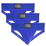 GOLBERG G Men's Athletic Supporters (3 Pack) - Jock Strap Underwear - Extra Strength Elastic