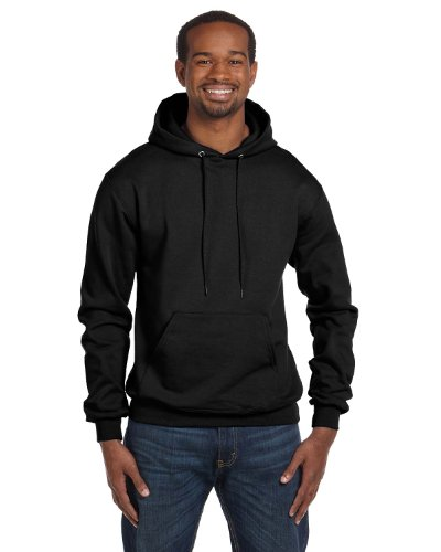 Champion Men's Front Pocket Pullover Hoodie Sweatshirt, Large, Black