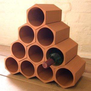 terracotta wine rack 10 set kitchen home. Black Bedroom Furniture Sets. Home Design Ideas