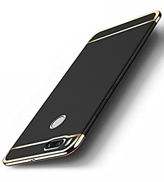 RIdhaniyaa Polycarbonate 360 Degree Slim Armor Protection Back Cover for Mi Redmi A1  Black  Cases   Covers