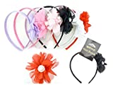 HAIR BAND W/FLOWER BOW, Case of 144