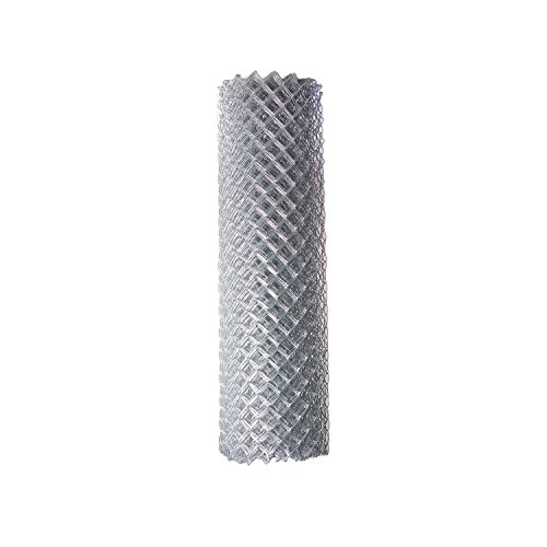 ALEKO CLF125G6X50 Chain Link Mesh Roll for DIY Fence System Galvanized Steel for Home Business Agriculture 6 x 50 Feet ()