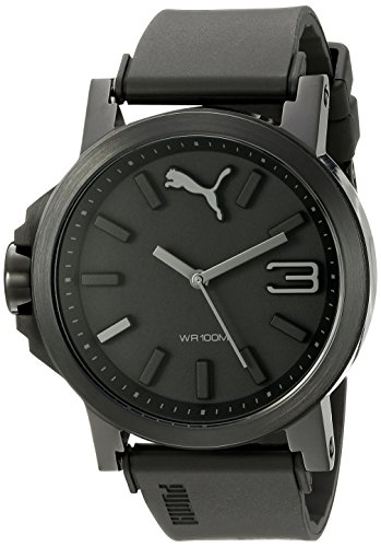 PUMA Men's PU103462015 Ultrasize 45 Analog Display Quartz Black Watch