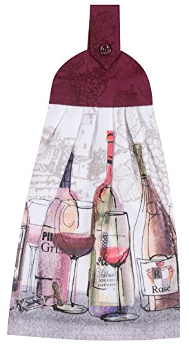 - Kay Dee Designs Choice Wine Tie Towel