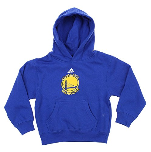 Golden State Warriors NBA Little Boys Toddlers Team Logo Pullover Hoodie, Blue (Blue, Large (7))