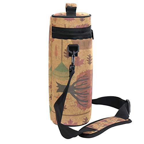c17e88e4bf KEAKIA Autumn Halloween Wallpaper Insulated Wine Tote Carrier - 2 Bottle  Travel Padded Wine Cooler Bag