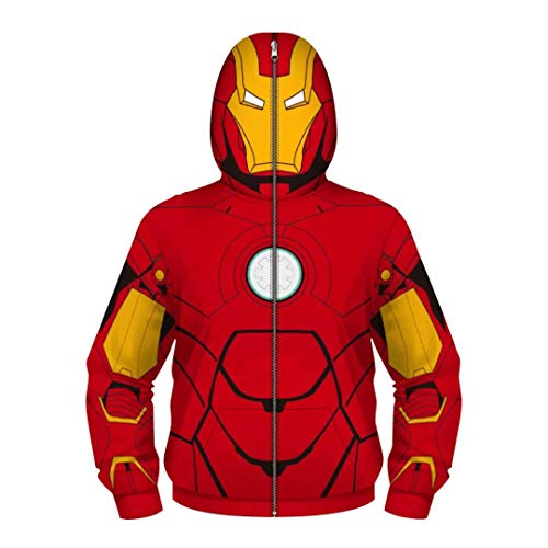 Boys Kids Iron Man Hoodies Costume Cosplay 3D Jackets Pullovers Tops