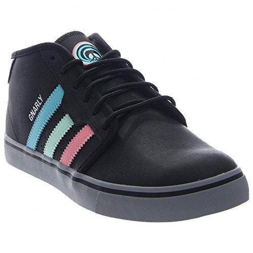 adidas Skateboarding Men's Seeley Mid Winter Gnarly Core Black/Light Aqua/Super Pop Sneaker 10 D (M) (Adidas Gazelle Skate Shoes)