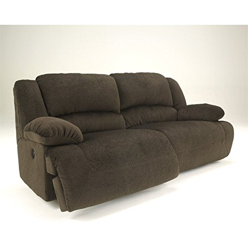 Ashley Furniture Signature Design - Toletta Manual Recliner Sofa - Dual Sided - Pull Tab Reclining - Chocolate Brown Reclining Sofa