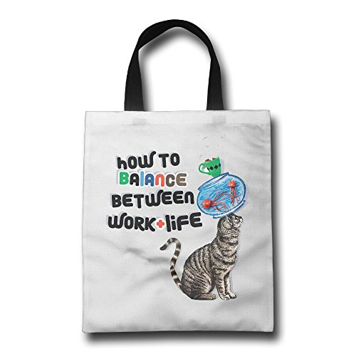 Particularly Tote Bags Environmental Friendly Eco 100% Polyester How To Balance Between Work And Life Portable For Kitchen And Outing,shopping,shoppingkitchen
