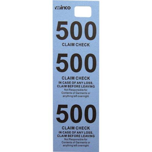 Winco Coat Checks, Blue, 500 Per Box