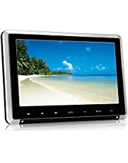PUMPKIN Lettore dvd portatile auto poggiatesta doppio schermo da 10.1 pollici con supporto, gioca circa 5 ore,supporta USB/SD/MMC/regione free
