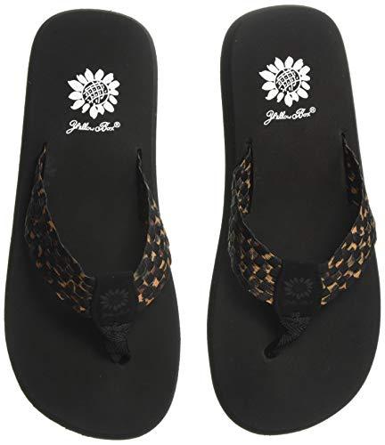Yellow Box Women's Soleil Flip-Flop, Black Leopard, 6 M US
