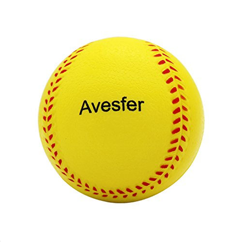 Avesfer Practice Baseballs Foam Softballs Training Sporting Batting Soft Ball Indoor Outdoor Backyard for Players Kids Teenager Children Yellow (6 PACK 11 INCH) ()