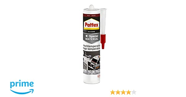 Pattex PFOFR - Silicona para horno y chimeneas, color rojo: Amazon.es: Industria, empresas y ciencia