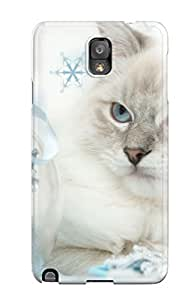 High-quality Durability Case For Galaxy Note 3(cat With Silver Ball)
