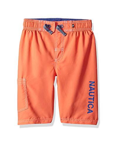 Nautica Toddler Boys' Swim Trunk with UPF 50+ Sun Protection, Anchor Hibiscus, - Trunk Hibiscus