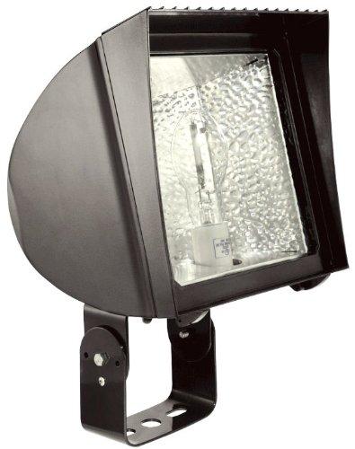 RAB FXH150TPS480 Flexflood 150W-Metal Halide Ps 480V HPF Pulse Start Trunnion + Lamp, Bronze Color