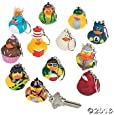 Vinyl Rubber Ducky Key Chain Collection - 12 pcs