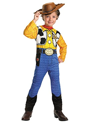 Disney Toy Story Toddler & Little Boys Woody Costume & Cowboy Hat 3T-4T ()