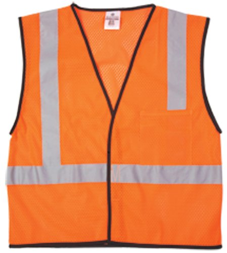 ML Kishigo 1194 Economy Series Ultra Cool Mesh 1 Pocket Vest, Fits Large and Extra Large, Orange