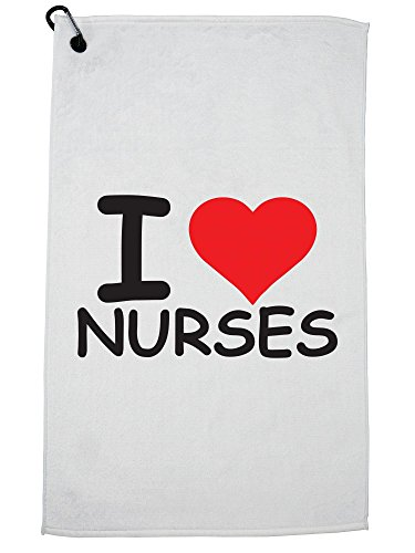 Hollywood Thread I Love Nurses Golf Towel with Carabiner Clip by Hollywood Thread (Image #5)