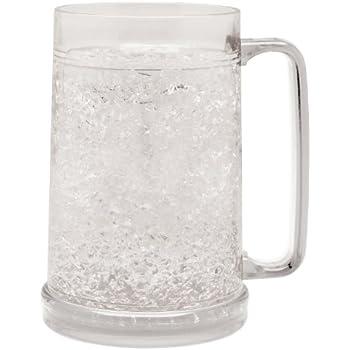 Amazon Com Beer Freezer Mug Double Wall 16oz