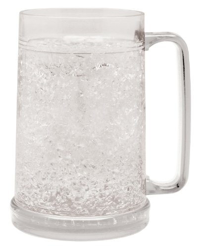 Beer Freezer Mug - Double Wall -16oz. Capacity (Clear) ()