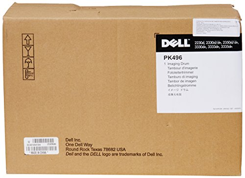 Laser Toner Drum Kit - Dell PK496 Black Imaging Drum Kit 2230d, 2330d/dn, 2350d/dn/3330dn/3333dn/3335dn Laser Printer