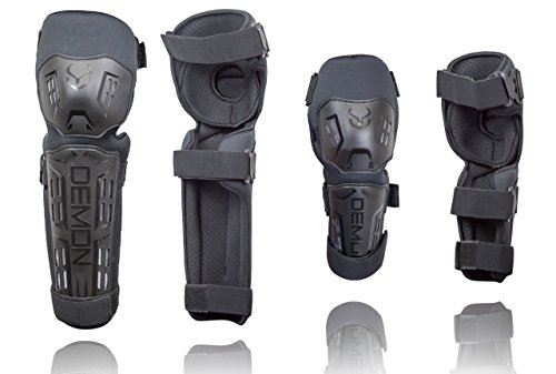 Demon-Tactic-Knee-Shin-and-Elbow-Guards-Combo-Pack-BMXMountain-BikeMotorcycle