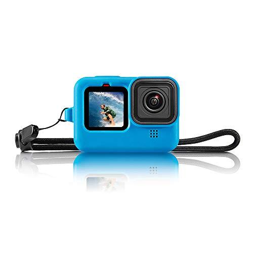 Funda protectora de silicona para GoPro Hero 10 Hero 9. Azul