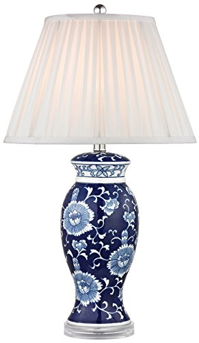 Dimond Lighting D2474-LED Blue and White Ceramic Table Lamp, Hand Painted, 16