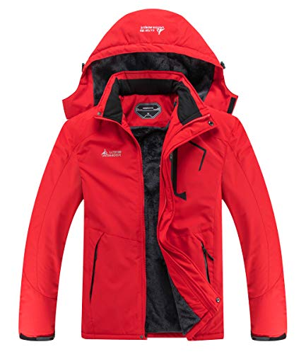 MOERDENG Men's Waterproof Ski Jacket Warm Winter Snow Coat Mountain Windbreaker Hooded Raincoat Snowboarding Jackets