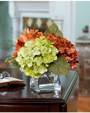 Amazon hydrangea silk flower arrangement rustgreen hydrangea silk flower arrangement rustgreen mightylinksfo