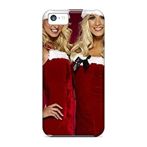 Iphone 5c Cases Covers - Slim Fit Protector Shock Absorbent Cases (happy Santa Girls)