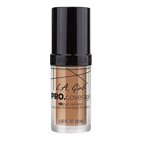 L.A. Girl Pro Coverage Liquid Foundation, Beige, 0.95 Fluid Ounce