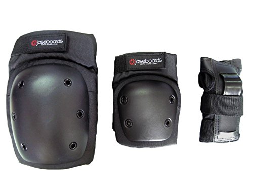 ADULT Jaseboards Skateboard/longboard Safety Triple Pack (Elbow, Knee, Wrist) by Jaseboards