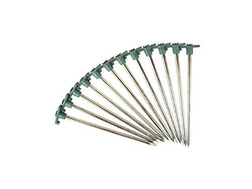 SE 9NRC10 Heavy-Duty Metal Tent Pegs Stake Set (10-Pack) by SE