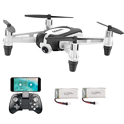 GoolRC Drone with Carema Mini Drone T700 WiFi FPV 720P G-Sensor Altitude Hold RC Training Quadcopter for Beginners Kids w/ 2 Battery