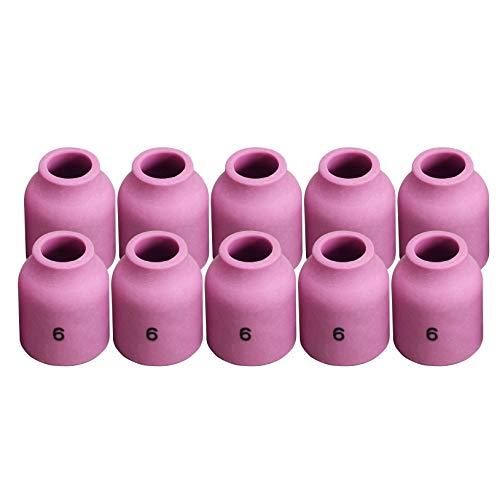 TIG Gas Lens Alumina Nozzle 53N60 6# Fit PTA DB SR WP 9 20 24 25 TIG Welding Torch 10pk