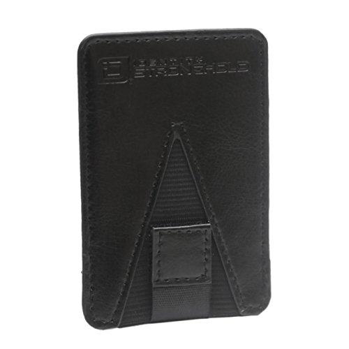 RFID Card Holder Cell Phone Pull Tab Card Pocket Mini (Black)
