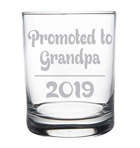 Promoted to Grandpa 2019, 14 oz. rocks, whiskey glass (Best Scotch Whiskey 2019)
