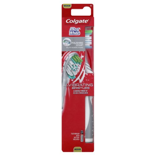 UPC 035000688507, Colgate MaxWhite Adult Full Head, Medium, Sonic Powered Toothbrush, Colors Vary