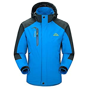 Waterproof Jacket Mens Raincoats Outdoor Casual Hooded Lightweight Softshell Hiking Windproof Mountaineer Travel Rain Jackets