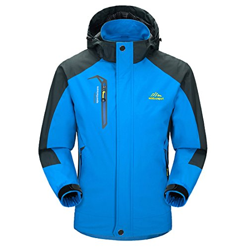 MICKYMIN Waterproof Jacket Mens Raincoats Outdoor Hiking Windproof Travel Rain Jackets